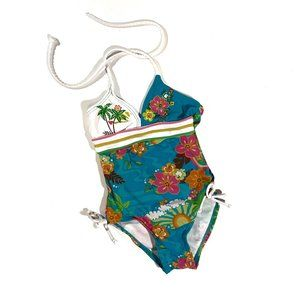 Hula Star One Piece Swimsuit Tropical Print Size 2